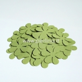 Fabric flower, light green, 1 pc, select size