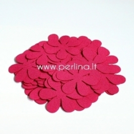 Fabric flower, bright pink, 1 pc, select size
