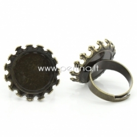 Pagrindas žiedui, ant. bronzos sp.,17,5 mm
