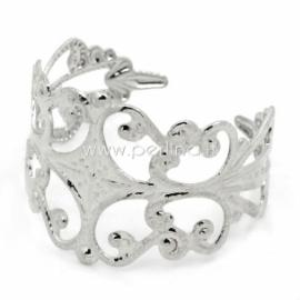 Pagrindas žiedui, sidabro sp.,19 mm