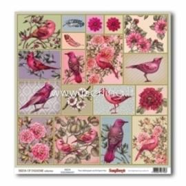 "Popierius ""Birds - Birds of Paradise"", 30,5x30,5 cm"