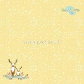 "Popierius ""Happy Deer - Forest Friends collection"", 30,5x30,5 cm"