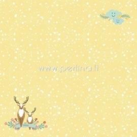 "Popierius ""Happy Deer - Forest Friends collection"", 30,5x30,5 cm"