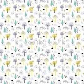 """Paper """"Habitat - Forest Friends collection"""", 30,5x30,5 cm"""