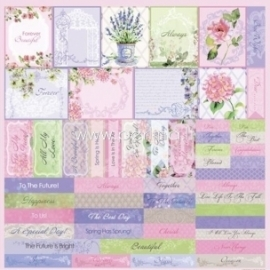 """Paper """"Cards 2 - In Bloom collection"""", 30,5x30,5 cm"""