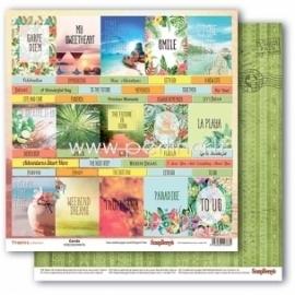 "Paper ""Cards - Tropics collection"", 30,5x30,5 cm"