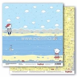 "Popierius ""Sailor Cats - Zoe & Ziggy's Sailing Adventures collection"", 30,5x30,5 cm"
