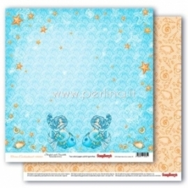 "Popierius ""Starfish and Seashells - Ocean Enchantment collection"", 30,5x30,5 cm"