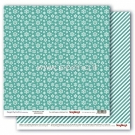 "Popierius ""Snowflakes True Teal - Elegantly Festive collection"", 30,5x30,5 cm"