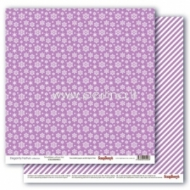 "Popierius ""Snowflakes Lustrous Lilac - Elegantly Festive collection"", 30,5x30,5 cm"