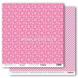 """Paper """"Snowflakes Pink Crush - Elegantly Festive collection"""", 30,5x30,5 cm"""