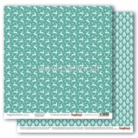 "Popierius ""Reindeer True Teal - Elegantly Festive collection"", 30,5x30,5 cm"