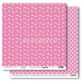 "Paper ""Reindeer Pink Crush - Elegantly Festive collection"", 30,5x30,5 cm"