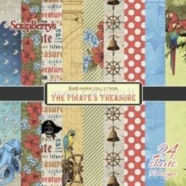 """Popieriaus rinkinys """"The Pirate's Treasure"""", 15x15 cm, 24 vnt."""