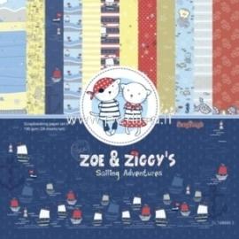 "Popieriaus rinkinys ""Zoe & Ziggy's Sailing Adventures"", 15x15 cm, 24 vnt."