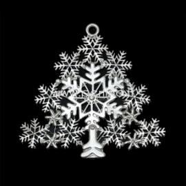"""Pakabukas """"Kalėdinė eglutė"""", pasidabruotas, 8x7,7 cm"""