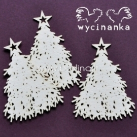 """Chipboard """"Very Merry - Christmas Trees"""", 3 pcs"""