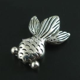"Intarpas - karoliukas ""Žuvis"", ant. sidabro sp., 24x17 mm, 1 vnt."