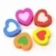 """Mediniai karoliukai """"Širdis"""", įvairių sp., 17x18 mm, 5 vnt."""