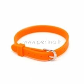 Silikoninė apyrankė laikrodžiui, oranžinė sp., 21x0,8 cm
