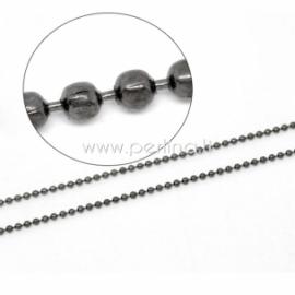 Burbuliukų grandinėlė, juodos sp., 1,5 mm, 10 cm