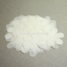 Fabric flower, off white, 1 pc, select size