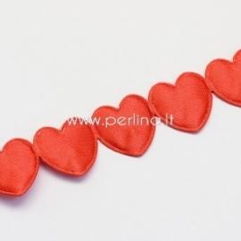 """Juostelė """"Širdelės"""", raudonos sp., 16 mm, 1 m"""
