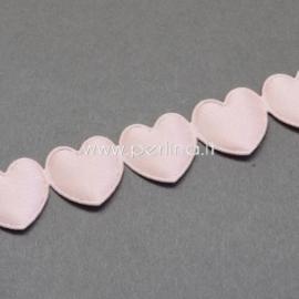 """Juostelė """"Širdelės"""", rožinės sp., 16 mm, 1 m"""