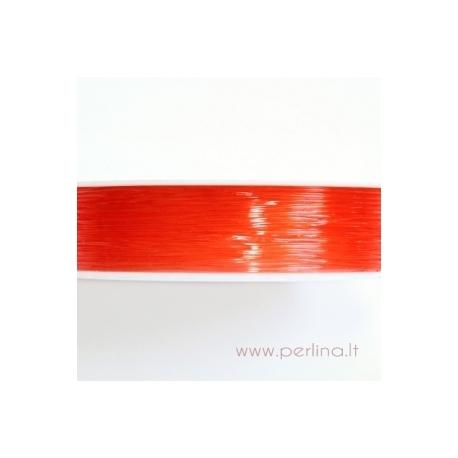 Silikoninis siūlas, švelniai oranžinis, 0,8 mm, 1 m