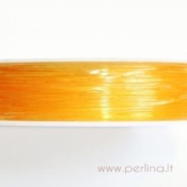 Silikoninis siūlas, persikinis, 0,8 mm, 1 m