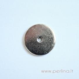 "Tibeto sidabro intarpas ""Moneta"", 17 mm"