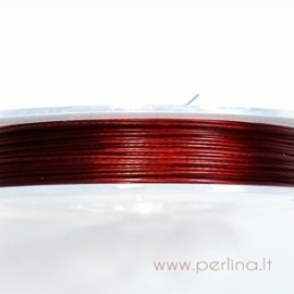 Troselis, tamsiai raudonas, 0,38 mm, 1 m