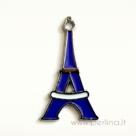 """Pakabukas dengtas emaliu """"Eifelio bokštas"""", 31x28 mm"""