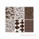 """Raštuoti skaidrūs plastikiniai lapeliai """"Chocolate Flocked"""", 6x9 cm, 6 vnt."""