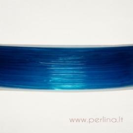 Silikoninis siūlas, mėlynas, 0,8 mm, 1 m