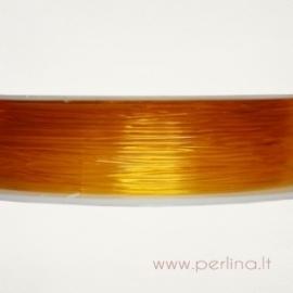 Silikoninis siūlas, tamsiai geltonas, 0,8 mm, 1 m