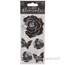 """3D lipdukai """"Charming Florals"""", 5 vnt."""