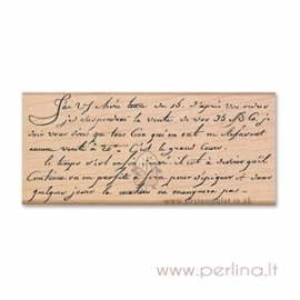 """Antspaudas """"Old French Writing"""", 1 vnt"""
