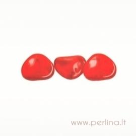 Stiklinis pakabukas, raudonas, 14x13 mm
