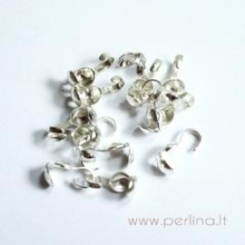 Ant.sidabro sp. užspaudžiamas burbuliukas, 9x3,5 mm, 10 vnt