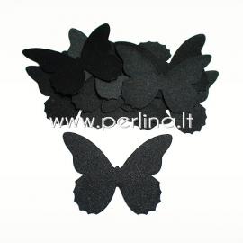 Medžiaginis drugelis, juodos sp., 1 vnt., dydis pasirenkamas