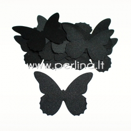 Fabric butterfly, black, 1 pc, select size