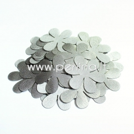 Fabric flower, grey/silvery, 1 pc, select size