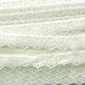 Nėrinių juostelė, balta, 15 mm, 1 m