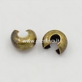 Užbaigimo detalė spaustukams paslėpti, aukso sp., 4x3 mm, 10 vnt.