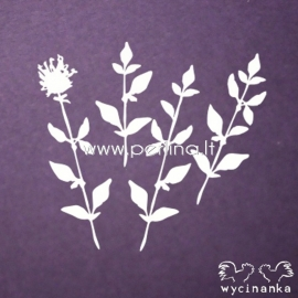 """Chipboard """"Flowers and herbs 3"""", 4 pcs"""