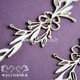 """Chipboard """"Flowers and herbs 5"""", 2 pcs"""