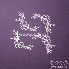 """Chipboard """"Flowers and herbs 8"""", 4 pcs"""