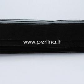 Organzos juostelė, juoda, 10 mm, 1 m