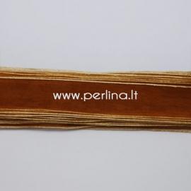 Organza ribbon, saddle brown, 10 mm, 1 m